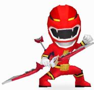 Red Wild Force Ranger in Power Rangers Dash