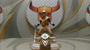 Gold Ninja Steel Ranger cockpit