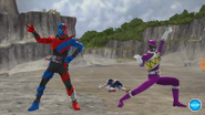KyoryuViolet male & Kamen Rider Build SuperSkill