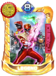 Armed TyrannoRanger Card in Super Sentai Legend Wars