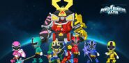 Power Rangers Samurai & Super Samurai in Power Rangers Dash