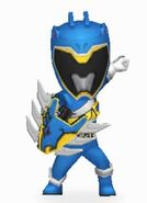 Blue Dino Charge Ranger Armored On In Power Rangers Dash