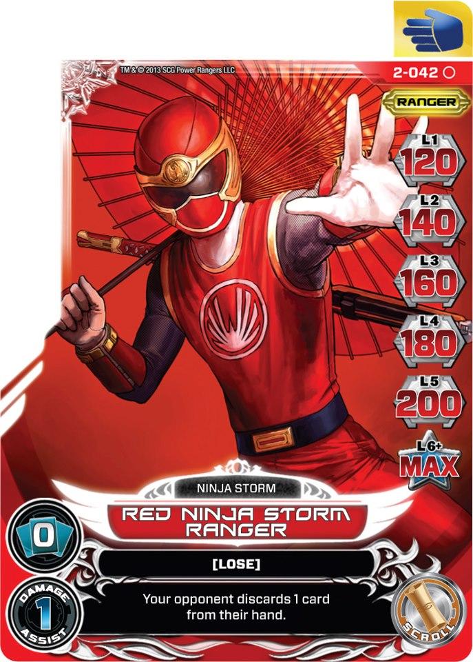 Red Ninja Storm Ranger (2-042) | PRACG Wiki | FANDOM powered by Wikia