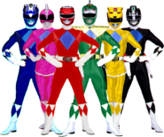 Power rangers alternate mmpr universe w green by bilico86-db0n0h4