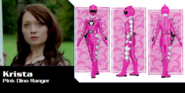 Krista the Pink Dino Thunder Ranger
