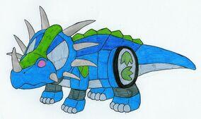 Blue Styracozord by MCsaurus
