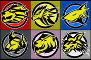 Gaoranger Emblems by Domafox