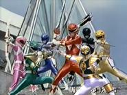 Seven Mighty Morphin Rangers