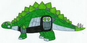 Green Stegozord by MCsaurus