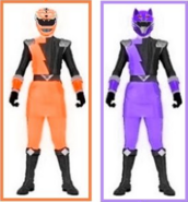 Orange and Purple Hyper Rangers