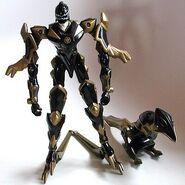 RARE-2004-Dino-Thunder-Black-Quadro-Battlized-Power-Ranger