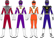 Power Rangers Turbo Charge (Sixth and Extra Rangers)