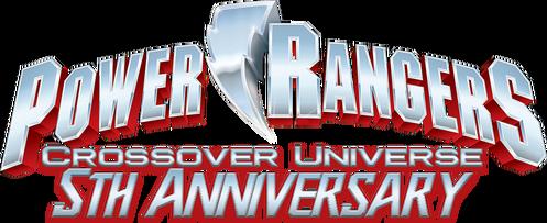 Power Rangers Crossover Universe 5th Anniversary logo