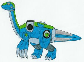 Teal Therizinozord by MCsaurus