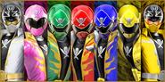 Super Megaforce Rangers with Super Megaforce Gold