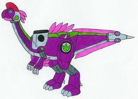 Purple Oviraptozord by MCsaurus
