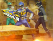 KyoryuGreen,KyoryuBlue and KyoryuBlack with Slash Shield Shot