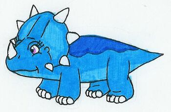 Tricia the Blue Styracosaurus by MCsaurus