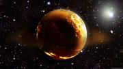 Golden planet in deep space by emperorkk-d5bn39c
