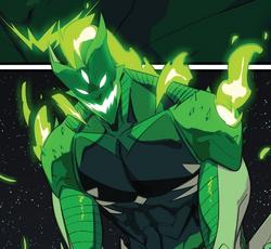 Psycho Green's monster form