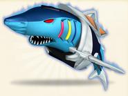 6. Silver Megalodon Zord