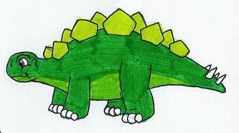 Steggy the Green Stegosaurus by MCsaurus