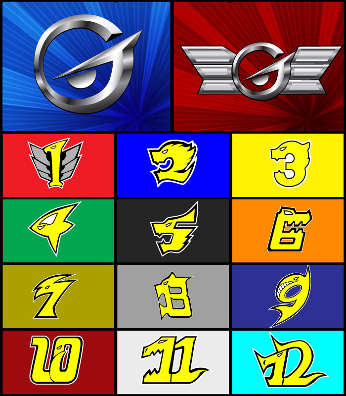 Image Go Onger Emblems By Domafoxg Power Rangers Fanon Wiki