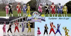 Power Rangers Turbine Poster