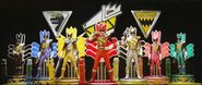 7 Kyoryugers in Gigant