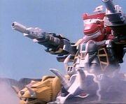MMPR Dino Megazord en modo tanque