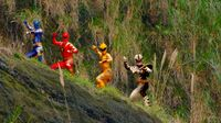 Dino Rangers in Super Megaforce
