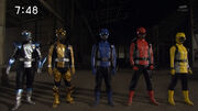 Go-Busters team