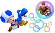 Toad and Blue Baby Yoshi