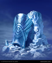 Ice Carved Greaves
