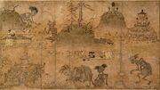 Gaki-zoshi-scroll-of-the-hungry-ghosts-heian-period12th-century-tokyo-national-museum