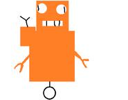 Miss Robot flying like a retard