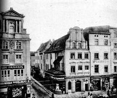 1910 - Stary Rynek - wylon na ul. Woźną