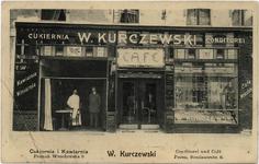 Cukiernia i kawiarnia W.Kurczewskiego przy ulicy Wrocławskiej