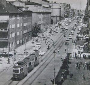 Ulica Głogowska tramwaj