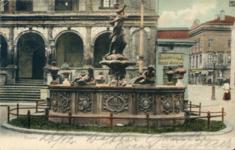 Brunnen vor dem Rathaus - Pocztówka