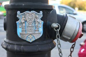 Hydrant with the coat of arms of Poznań