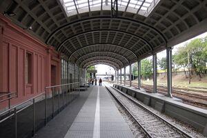 Odnowiony peron Dworca Letniego