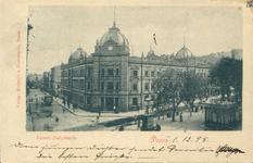 Poczta na rogu Alei Marcinkowsiego i 23 Lutego - 1898 - Pocztówka