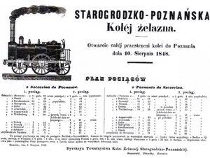 Starogrodzko-Poznańska Kolej Żelazna rozkład jazdy