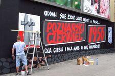 Mural ku czci ofiar Poznańskiego Czerwca 1956