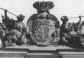 Odwach kartusz herbowy Stanisława Augusta