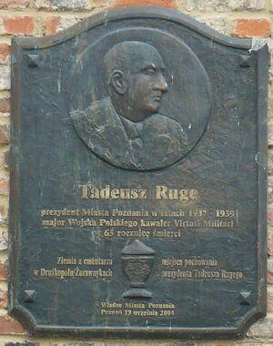 Ruge Plaque Poznan
