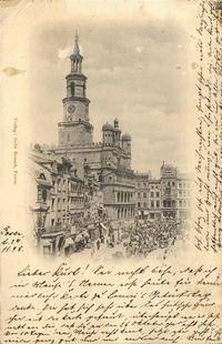 Posen; Stary Rynek - Pocztówka