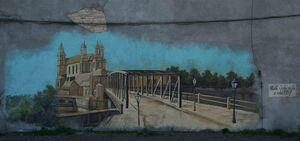 Most Cybiński mural