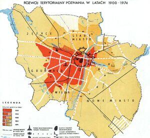 Rozwój terytorialny Poznania w latach 1900-1974